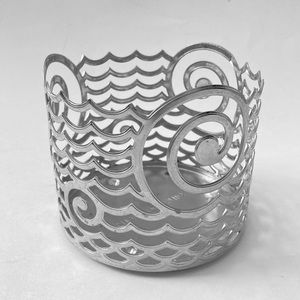 Bath & Body Works Wave Ocean Metal Candle Holder